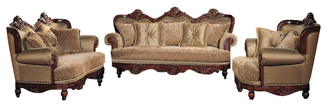 traditional living room furniture sets ideas to decorate a big wall boudreaux luxury 3 piece set victorian