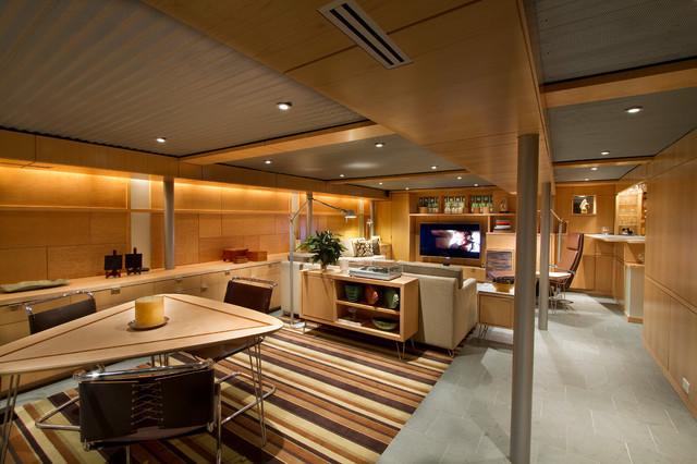 cheap side tables for living room ceiling designs pictures lower level - midcentury basement philadelphia ...