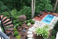 Swimming Pool and Deck on Steep Slope in McLean Backyard ...