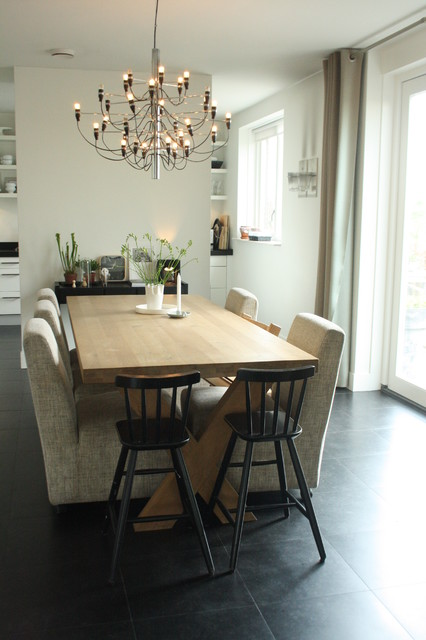 chair design scandinavian drafting table height my houzz: sophisticated family home breathes style - contemporary dining room ...