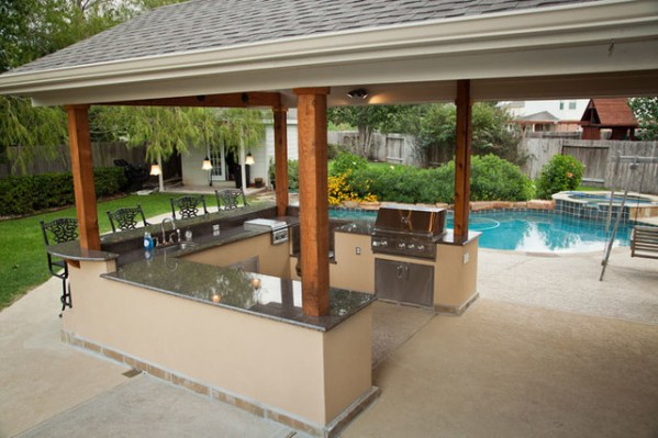 outdoor kitchen covered patio Outdoor Kitchen and Patio Cover in Katy, TX - Traditional - Patio - Houston - by Your Great Outdoors