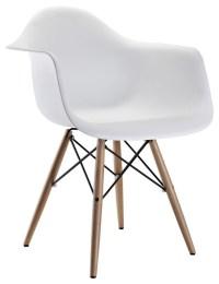 Eames Style Molded Plastic Dowel-Leg Armchair (DAW) Set of ...