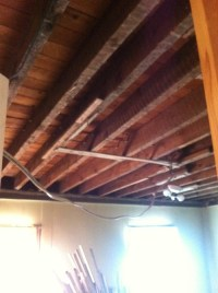 Exposed floor joist ceiling?