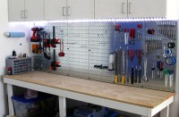 Garage Pegboard with LED Light Accents - Wall Control ...
