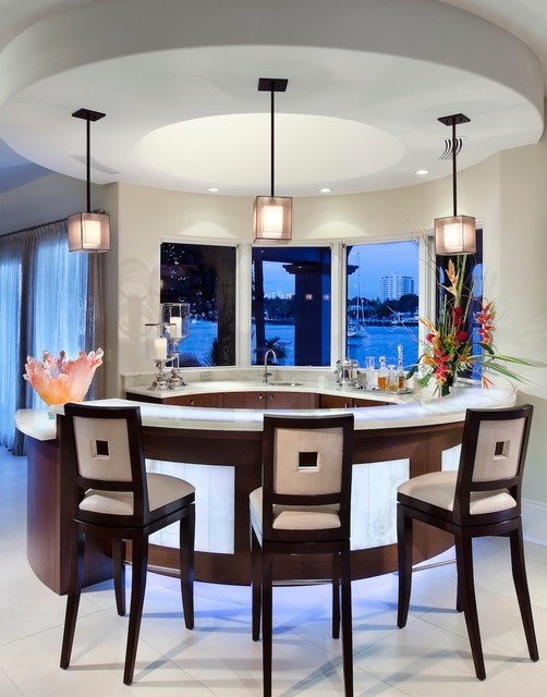 Oversized Industrial Pendant Light Wet Bar - Contemporary - Kitchen - Miami - By W.a. Bentz