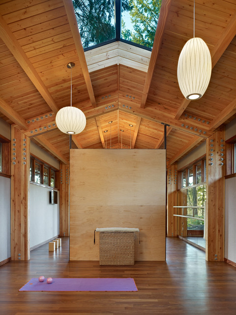 Yoga Studio  Contemporary  Home Gym  seattle  by SHKS