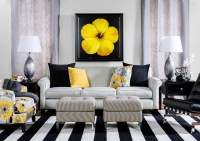 Black and Yellow Living Room - Contemporary - Living Room ...