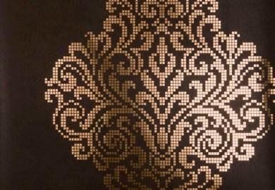 Chevron Texture In White Gold Wallpaper Modern Wallpaper By F