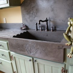 Kitchen Sinks With Drainboard Built In Aluminum Cabinets Garden Sink - Eclectic Charlotte By Bdwg ...