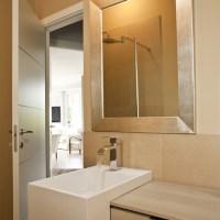 Custom golden silver framed bathroom mirror - Contemporary ...