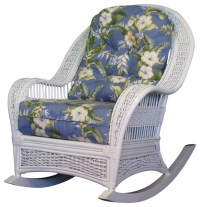Regatta Rocker in White, Beach-Umbrella Fabric - Tropical ...