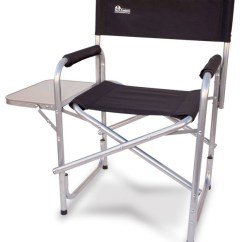 Heavy Duty Folding Chairs Outdoor Chair Lift For Stairs Medicare Earth Director S With Side Table Beach Style Tables By Innovative Products