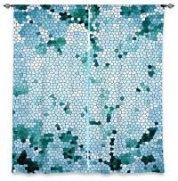 Window Curtains Unlined by Iris Lehnhardt - Mosaic Blue ...