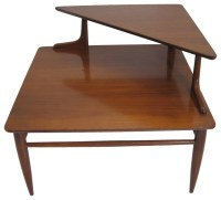 Two-Tier Mid-Century Side Corner Table - Midcentury - Side ...