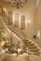 Bethesda Foyer   Traditional   Staircase   DC Metro   by ...