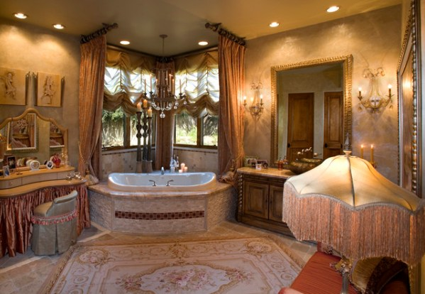 french master bedroom interior design Venetian Eclectic - French Master Bathroom - Mediterranean