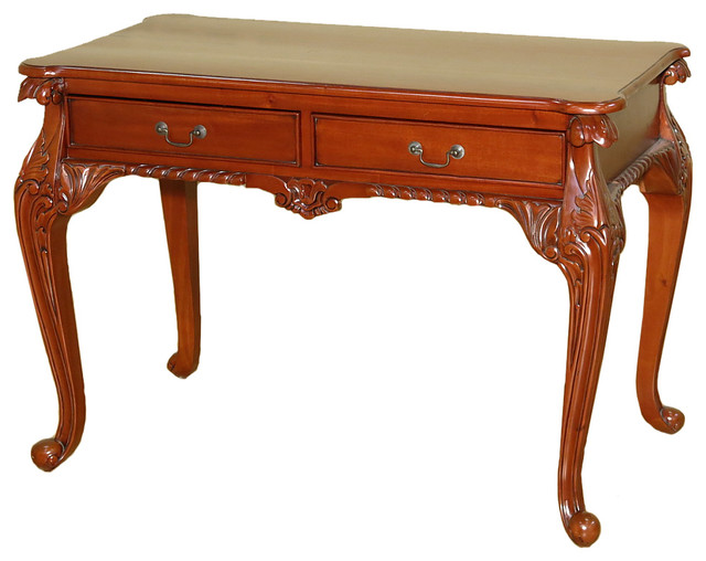 MBW Furniture  Cherry Chippendale Queen Anne Writing Desk