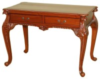 MBW Furniture - Cherry Chippendale Queen Anne Writing Desk ...