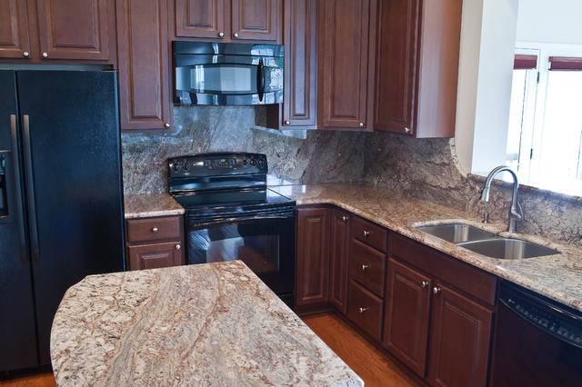 Typhoon Bordeaux Granite Traditional Kitchen Dc Metro By Granite Grannies