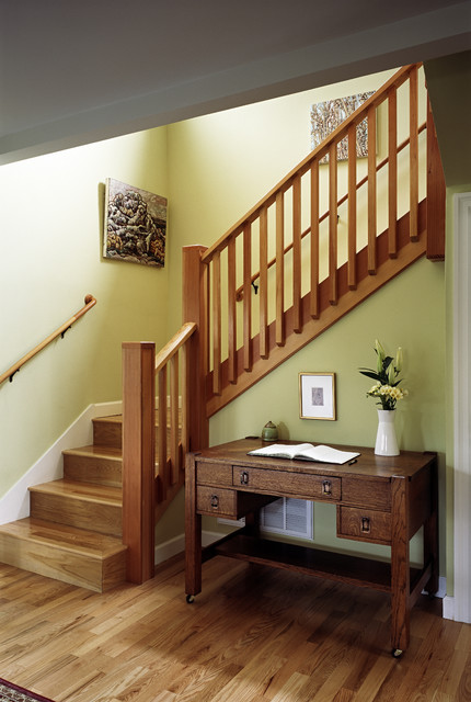 New front staircase  Craftsman  Staircase  San Francisco  by Ogawa Fisher Architects