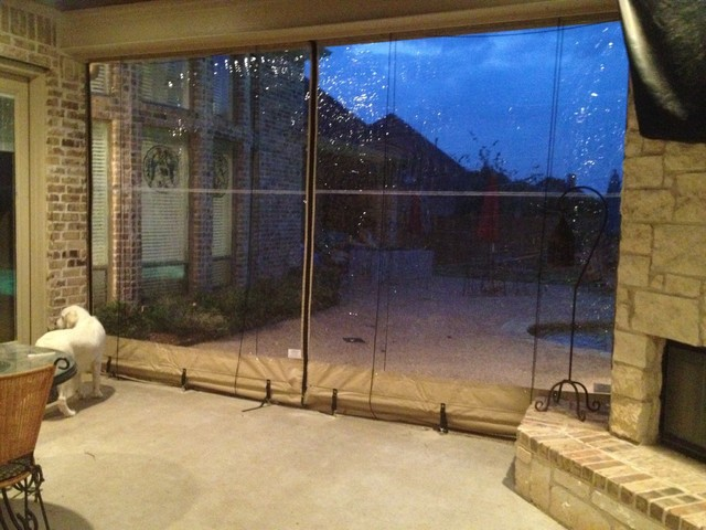 Clear Vinyl Patio Enclosure Weather Curtains Glaves Residential