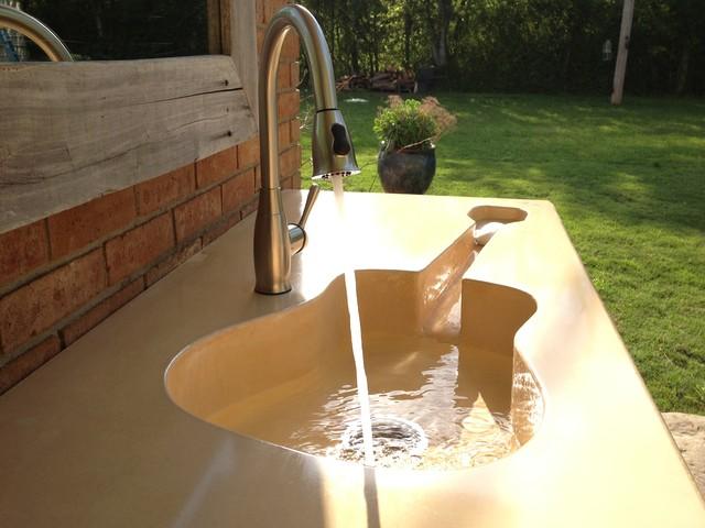 Custom Concrete Guitar Farm Sink Modern Bathroom Sinks Jackson By Pearidge Concrete And