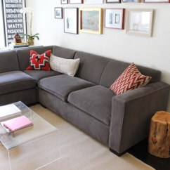 Tree Stump Chairs Floral Arm Chair Slate Gray Sectional With Eclectic Woven And Embroidered Pillows - Living Room Los ...