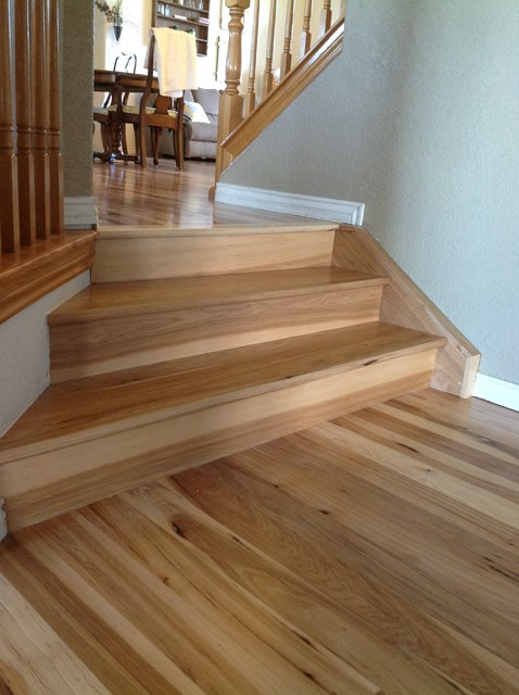 Hickory Flooring  Traditional  Staircase  denver  by