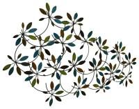 Benzara Classic Metal Leaf Wall Decor With Modern Style ...