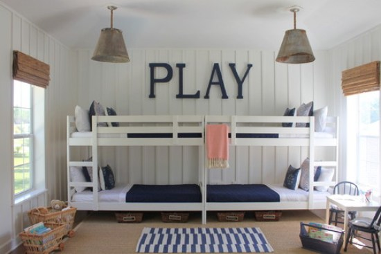 nautical bunk room + coastal cottage style