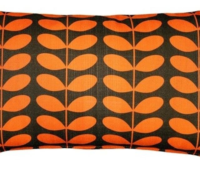 Pillow Decor Mid Century Modern Orange Throw Pillow 12x20