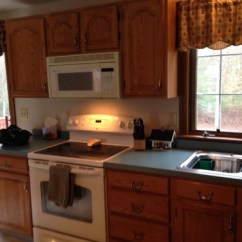 Pewter Kitchen Table And Chairs Hard Surface Chair Mat What Color Walls? Oak Cabinets Blue/green Countertops