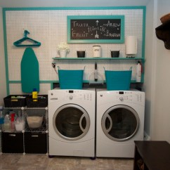 Decorative Chalkboard For Kitchen Build Your Own Island Laundry Room With Peg Board - Contemporary ...