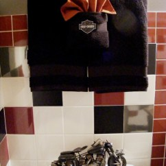 Wall Tile For Kitchen Island With Seating 2 Harley-davidson Bathroom - Traditional ...