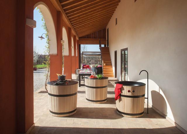 Cuisine Loft campagne-terrasse-et-patio
