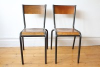 Vintage Mullca French industrial chairs - Midcentury ...
