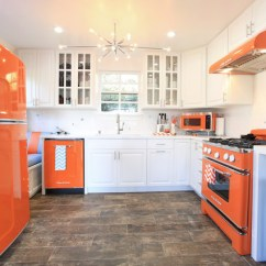Wood Kitchen Stoves For Sale Modern Sink Orange Retro Appliances With Touch ...