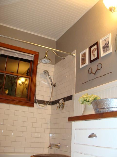 1940s Bungalow Bathroom  FarmhouseWestern Style  Craftsman  Bathroom  Dallas