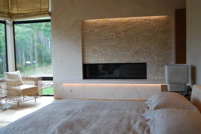 Fireplace lighting  Bedroom  Denver  by 186 Lighting Design Group  Gregg Mackell
