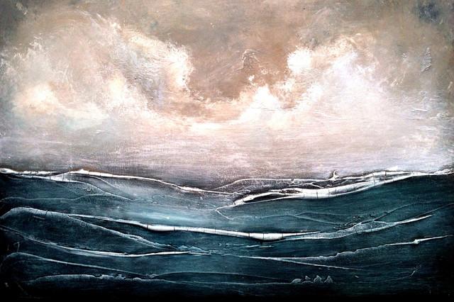 Abstract Ocean Artwork  Beach Style  Fine Art Prints