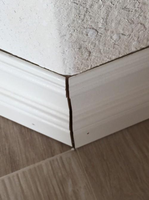 Baseboard gaps