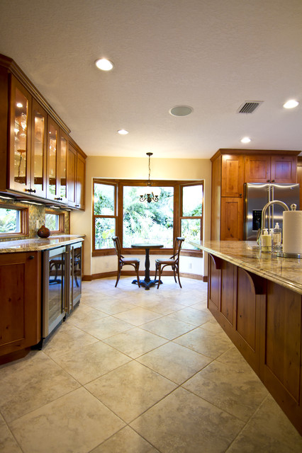 New kitchen from combined kitchen and dinning room