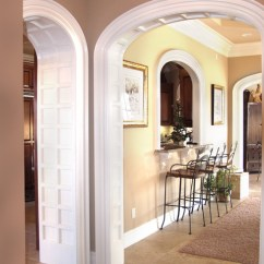 Armed Dining Chairs Accent Chair Black Elliptical Arched Cased Opening Unit - Traditional Entry Little Rock By Grand Openings ...