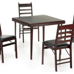 Folding Card Table And Chairs Chair Covers Sashes For Hire Cosco 5 Piece Bridgeport 32 Inch Wood Set Transitional Game Tables By Hayneedle