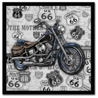 Jean Plout 'Vintage Motorcycles On Route 66 15' Canvas Art ...