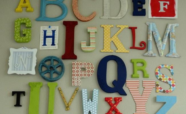 Alphabet Wall Art Eclectic Kids Austin