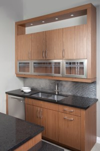 Contemporary Natural Walnut - Contemporary - Kitchen ...