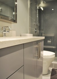 Did you use Ikea kitchen cabinets for the bathroom vanity ...