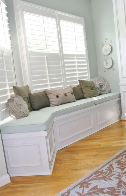 Huntington Built In Bench Seat With Lids For Storage