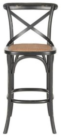Safavieh Franklin Oak Wood Barstool, Hickory